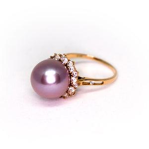 Mystery Queen Purple Edison Pearl Ring - Timeless Pearl