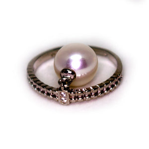 ANTIQUE SILVER PEARL RING - Timeless Pearl
