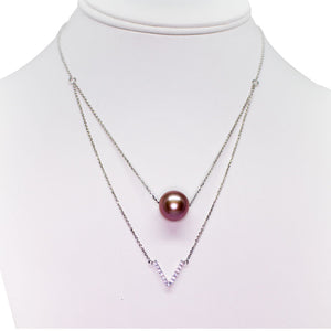 Purple Victory Edison Pearl Necklace - Timeless Pearl