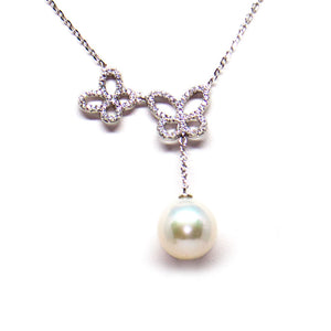 Butterflies In Love Edison Pearl Necklace - Timeless Pearl
