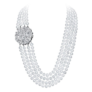 Flower Of Life Pearl Necklace - Timeless Pearl