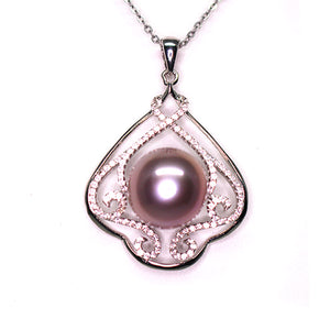 Mysterious Purple Edison Pearl Necklace - Timeless Pearl