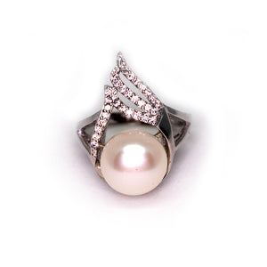 BURNING FLAMES PEARL RING - Timeless Pearl