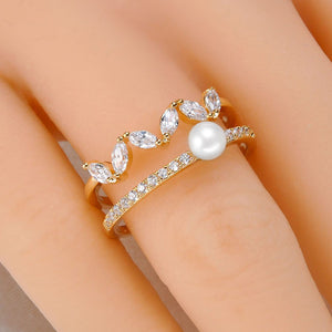Crown Pearl Ring - Timeless Pearl