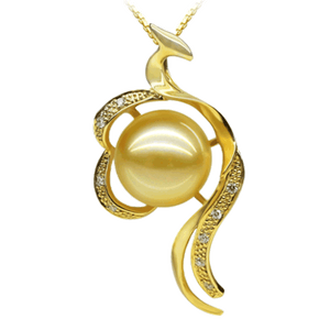 Golden Phoenix Pearl Necklace - Timeless Pearl