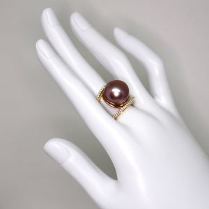 Golden King Edison Pearl Ring - Timeless Pearl