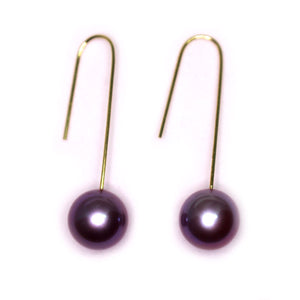 Simplified Perfect Edison Pearl Earrings - Timeless Pearl