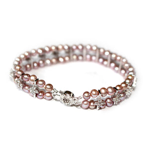 SACRED LOVE PURPLE PEARL BRACELET - Timeless Pearl