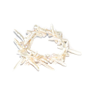 Cross Pearl Stretch Bracelet - Timeless Pearl