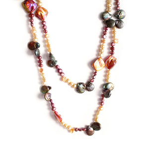 Rainbow Pearls Fashion Necklace - Timeless Pearl