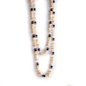 Glittering Purple Fashion Pearl Necklace - Timeless Pearl
