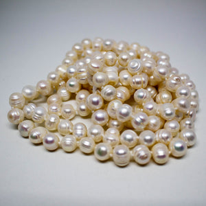 White Endless Fashion Pearl Necklace - Timeless Pearl