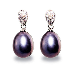 Black Pearl Earrings - Timeless Pearl