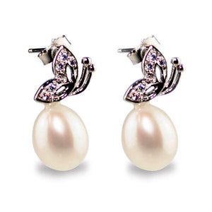 Playful Butterfly Pearl Earrings - Timeless Pearl