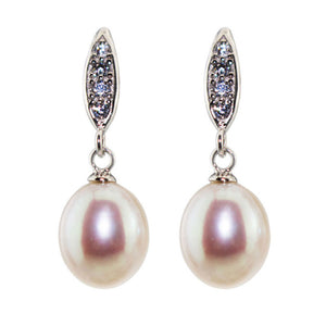 Elegant Drop Earrings - Timeless Pearl