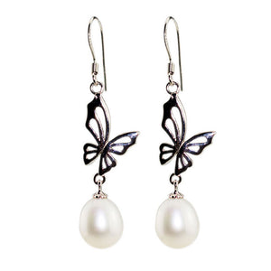 Flying Butterfly Earrings - Timeless Pearl