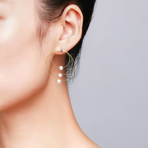 Circles of Pearl Earrings - Timeless Pearl