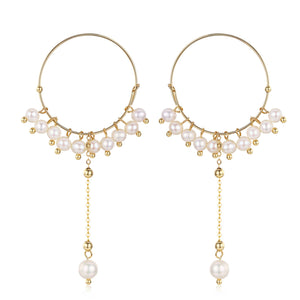 Circle of Bubbles Pearl Drop Earrings - Timeless Pearl
