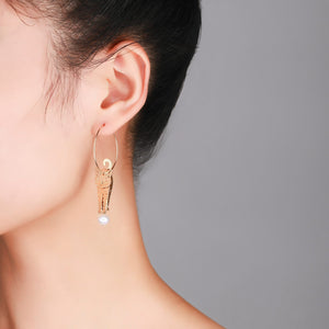 14K Gold Filled Cat Pearl Earrings - Timeless Pearl