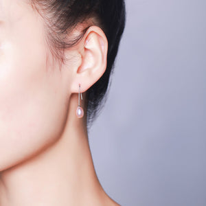 Simple Pearl Drop Earrings - Timeless Pearl