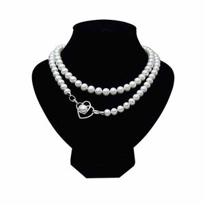Joined Hearts Pearl Necklace - Timeless Pearl