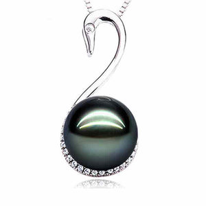 Black Swan Pearl Necklace - Timeless Pearl