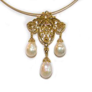 Life of Palace Edison Pearl Necklace Brooch - Timeless Pearl