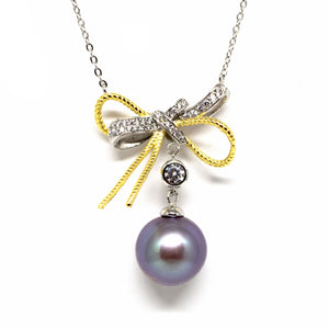 Duo Color Golden Knots Edison Pearl Necklace - Timeless Pearl
