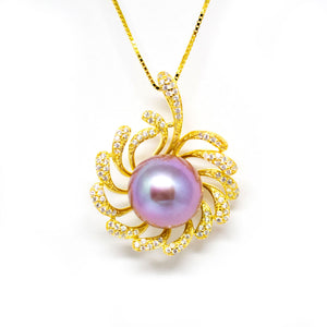 Flaming Heart Edison Pearl Necklace - Timeless Pearl