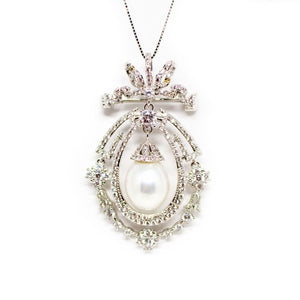 Royal Edison Pearl Necklace / Brooch - Timeless Pearl