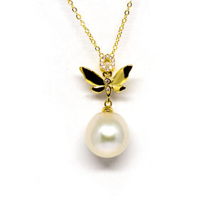 Angel Wings Edison Pearl Necklace - Timeless Pearl
