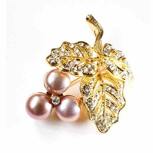PURPLE GRAPES PEARL BROOCH - Timeless Pearl