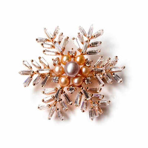 COLORFUL SNOWFLAKE PEARL BROOCH - Timeless Pearl