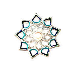 Water Lily Lotus Pearl Brooch - Timeless Pearl