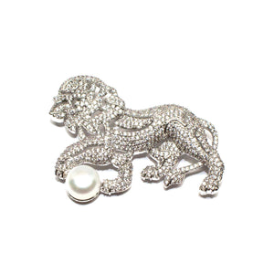 LION PEARL BROOCH - Timeless Pearl