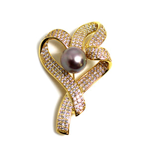Best Wishes Edison Pearl Brooch - Timeless Pearl