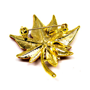 MAPLE LEAF PEARL BROOCH - Timeless Pearl