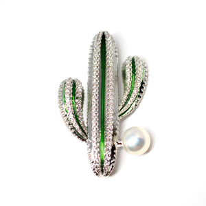 Cactus Pearl Brooch - Timeless Pearl