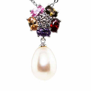 Starburst Flower Drop Pearl Necklace - Timeless Pearl