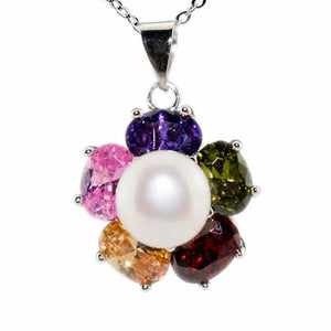 Colorful Flower Pearl Necklace - Timeless Pearl