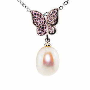 Butterfly Pearl Necklace - Timeless Pearl