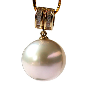 GOLDEN CIRCLE EDISON PEARL NECKLACE - Timeless Pearl