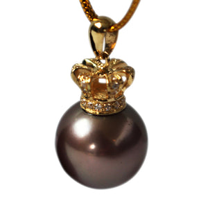 QUEEN CHOCOLATE Edison PEARL Necklace - Timeless Pearl