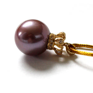 QUEEN DARK PURPLE EDISON PEARL NECKLACE - Timeless Pearl