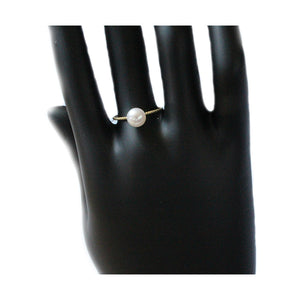 GOLDEN CIRCLE PEARL RING - Timeless Pearl