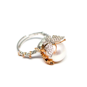 Butterfly Over Edison Pearl Ring - Timeless Pearl