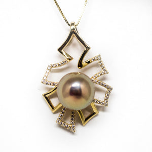 GOLDEN TREE OF LIFE EDISON PEARL NECKLACE - Timeless Pearl