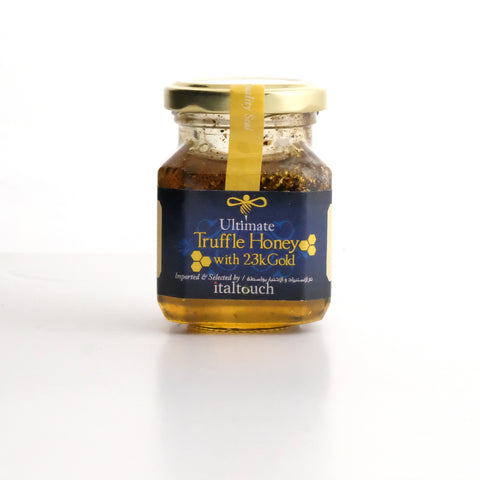 Truffle honey with 23kt gold flakes