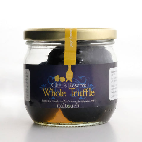 Whole truffles in jar