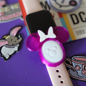 FLEXIBLE MagicBand 2.0 Puck Holder for Smart Watch Band Ear Bow Style